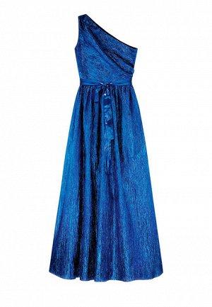 Длинное платье из ламе на одно плечо