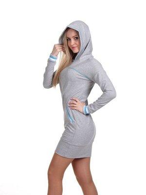 Платье пл334 серое