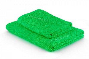 Полотенце махровое жаккардовое (Зеленый)