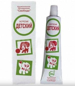 Крем Детский в ал.тубе в ф. Крем является незаменимым косметическим средством для ухода за нежной и чувствительной кожей малышей.  Содержит комплекс натуральных веществ: ланолин, экстракт ромашки, лав