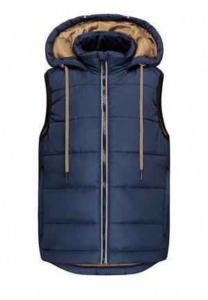Утеплённый стёганый жилет для мальчика, цвет синий