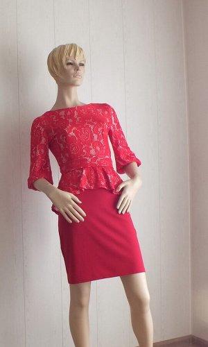 Платье Цвет красный ОГ 84, длина 85см
