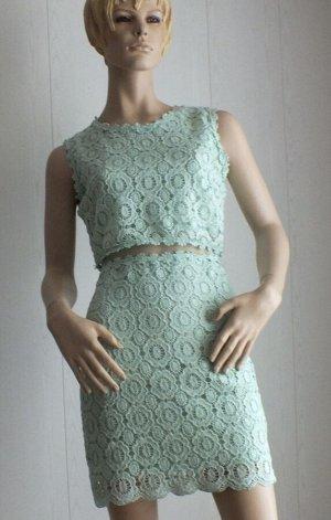 Платье Цвет мятный ОГ 88см, длина 87см