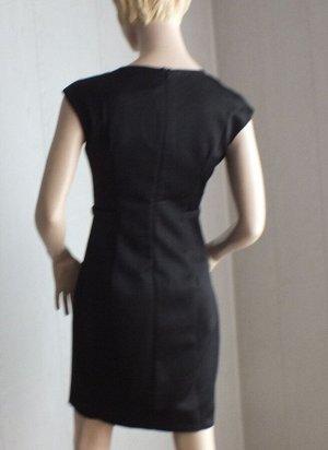Платье Цвет черный L ОГ 88см, длина 85см,  XL ОГ 92см, длина 87см