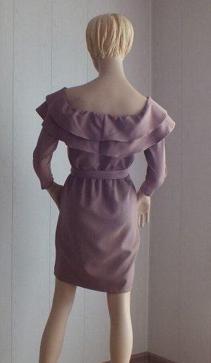 Платье Цвет светло-коричневый S ОГ 84см, длина 80см, М ОГ 86см, длина 81см