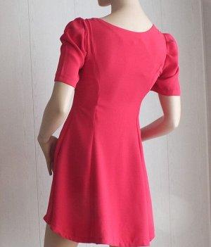 Платье Цвет ярко-коралловый ОГ 78см, длина 77см