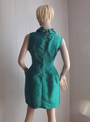 Платье Цвет ярко-зеленый ОГ 104см,  длина 87см
