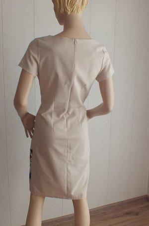 Платье Плотный лён, 46: ОГ 92см длина 94см 48: ОГ 96см, длина 95см 50: ОГ 100см, длина  95см