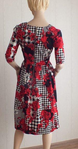 Платье Стрейч 38: ОГ 80см, длина 100см 40: ОГ 88см, длина 100см