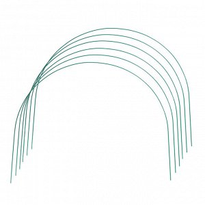 Комплект дуг для парника, прут в кембрике, 2,2 м, d = 5 мм, набор 6 шт.