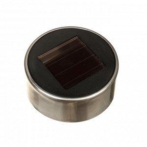 """Фонарь садовый на солнечной батарее """"Витраж янтарный"""", 39.5 см, d=7.5 см, 1 led, металл"""