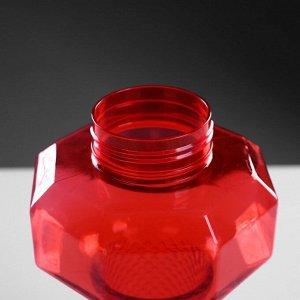 "Бутылка для воды ""Силач"", 1500 мл, на шнурке, микс, 12х27 см"