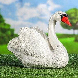 """Садовая фигура """"Лебедь"""", белый цвет, 29 см"""