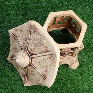 Садовый светильник ''Пагода'', шамот, без элемента питания