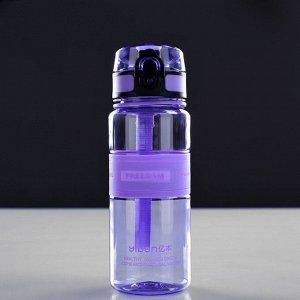 """Бутылка для воды """"Freedom"""", 480 мл, вставка резиновая, на шнурке, микс, 6.5х6.5х20 см"""