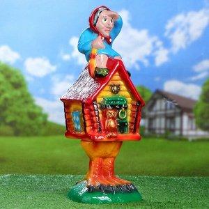 """Садовая фигура """"Избушка"""", разноцветная, 56 см"""