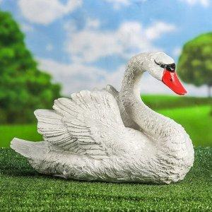 """Садовая фигура """"Лебедь"""", белый цвет, 26 см"""