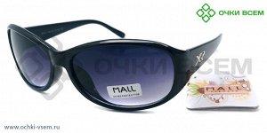 Очки Солнцезащитные UV400% MALL R1825C1 цв.оправы Черный цв.линзы Фиолетовый с градиентом