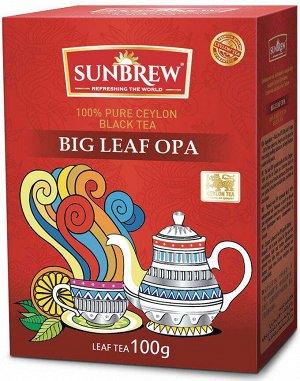 Чай SUNBREW BIG LEAF OPA 100г 1/40