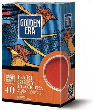 Чай GOLDEN ERA CEYLON BLACK TEA EARL GREY PEKOE с бергамотом 100 гр 1/40