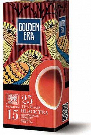 Чай GOLDEN ERA CEYLON BLACK TEA черный пакетированный 25 пак*2 гр 1/36