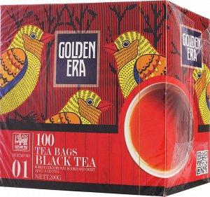 Чай GOLDEN ERA CEYLON BLACK TEA черный пакетированный 100 пак*2гр
