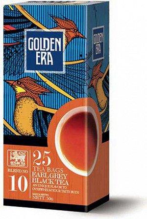 Чай GOLDEN ERA CEYLON BLACK TEA EARL GREY Пакетированный с бергамотом 25 пак*2гр 1/36