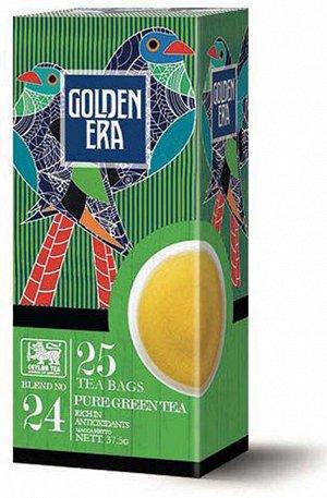Чай GOLDEN ERA CEYLON GREEN TEA зеленый пакетированный 25 пак*1,5гр 1/36