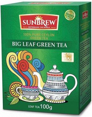 Чай SUNBREW BIG LEAF GREEN TEA 100г 1/40