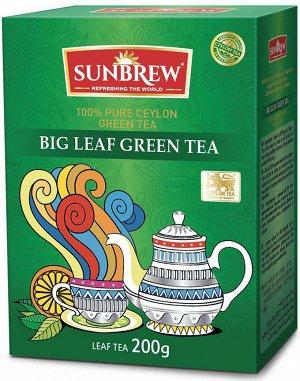 Чай SUNBREW BIG LEAF GREEN TEA 200г 1/24