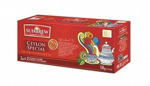 Чай SUNBREW CEYLON SPECIAL пакетированный 25пак*2гр 1/36