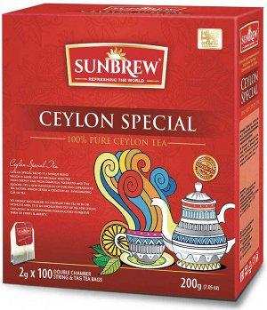 Чай SUNBREW CEYLON SPECIAL пакетированный 100пак*2гр