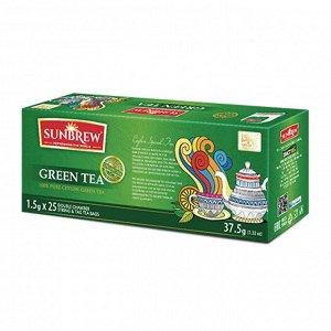 Чай SUNBREW GREEN TEA пакетированный 25пак*1,5гр 1/36