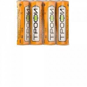 Батарейки ТРОФИ R6 АА 4S (4 шт.)