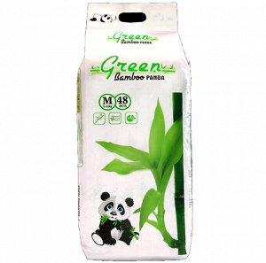 Детские подгузники-трусики GREEN BAMBOO PANDA Белые, M 48, 7-12 кг
