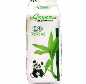 Детские подгузники-трусики GREEN BAMBOO PANDA Белые, L44, 9-14 кг
