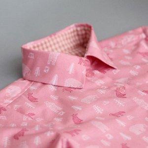 """Рубашка """"Мишки на розовом"""""""