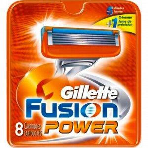 GILLETTE FUSION Power Сменные кассеты для бритья 8шт