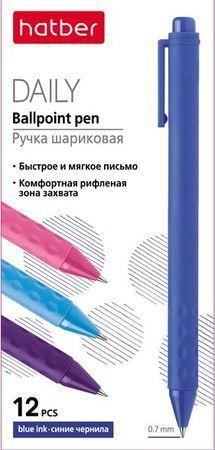 """Ручка автоматическая шариковая 0.7мм """"Daily"""" синяя, чернила soft ink (058657) Хатбер {Китай}"""