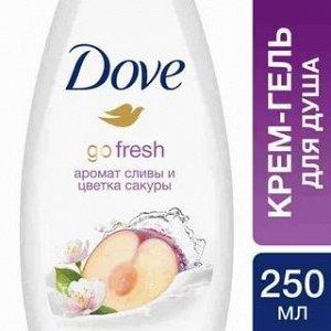 DOVE (ДАВ) Крем-гель для душа Слива и цветы сакуры, 250 мл