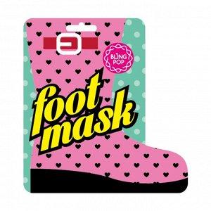 """Восстанавливающая маска SPA-носочки """"BLINGPOP"""" для ног с питательными маслами и натуральными экстрактами 18 г х 2 шт. / 160"""