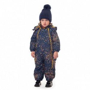 Комбинезон текстильный для девочек темно-синий,желтый,оранжевый