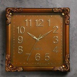 """Часы настенные, серия: Классика, """"Камила"""", 30х30 см, коричневые"""