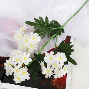 """Цветок искусственный """"Примула пышная"""" 4*53 см, белый"""