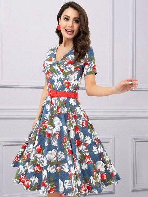 Платье Бонжур, леди! (романтика, с ремешком)