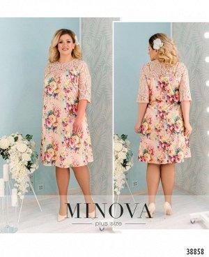 Платье №40083-1-бежевый
