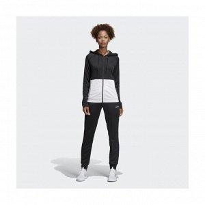 Спортивный костюм женский Модель: WTS Lin FT Hood BLACK/WHITE/BLACK Бренд: Adi*das