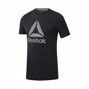 Футболка мужская Модель: TE Marble BL Tee BLACK Бренд: Reeb*ok