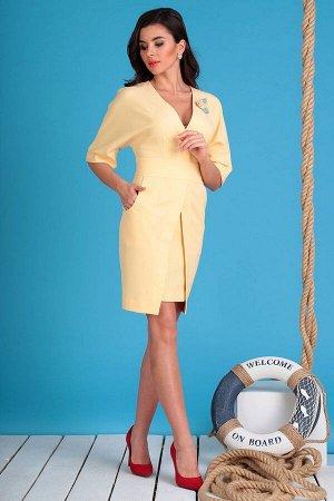 Платье Платье Мода Юрс 2334 персик  Состав ткани: ПЭ-91%; Спандекс-9%;  Рост: 164 см.  Платье прилегающего силуэта с рукавом кимоно. Горловина переда, спинки, нижние части платья обработаны подкройно