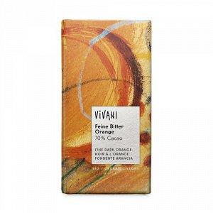 Темный шоколад с апельсином 70% Vivani